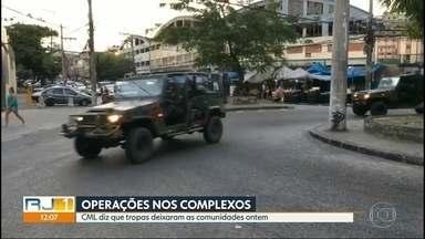 Forças Armadas deixam Complexos da Maré e do Alemão - O Comando Militar do Leste informou que as tropas deixaram as comunidade nesta sexta (24) porque todos os objetivos da operação foram cumpridos, com prisões e apreensões.