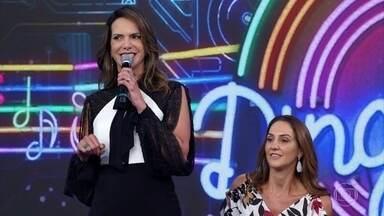 Fernanda Venturini e Virna Piovezan acertam música e saem na frente no 'Ding Dong' - Giovane Gávio e Maurício Lima não reconhecem música de Diogo Nogueira