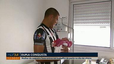 Depois da vitória do Operário, jogador corre para maternidade ver nascimento da filha - Zagueiro Sosa teve dois motivos pra comemorar no domingo.