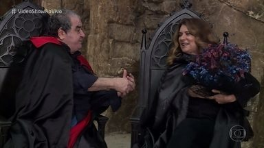 Otávio Augusto e Patrícya Travassos se reencontram 15 anos depois de 'Vamp' - Atores relembram a época da novela de terror que fazia todo mundo rir