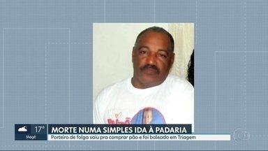 Morador de Triagem morre baleado a caminho de casa depois de comprar pão - Nelson Barros era porteiro e estava de folga.