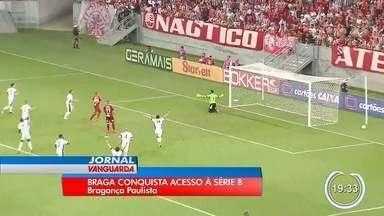 Bragantino conquistou acesso à série B do Brasileiro - Jogo foi no domingo.