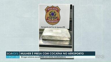 Mulher é presa com cocaína no aeroporto - Apreensão foi nesta segunda feira a tarde.