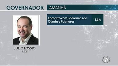 Confira a agenda dos candidatos ao Governo do Estado de Pernambuco - Veja os compromissos da terça-feira (28).