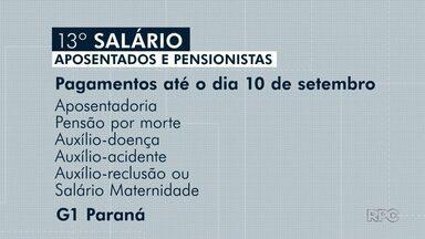 Começa o pagamento do 13º salário para aposentados e pensionistas - Pagamentos seguem até o dia 10 de setembro.