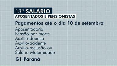 Aposentados e pensionistas começam a receber o 13ª salário - O depósito da primeira parcela do benefício será feito até o dia 10 de setembro.