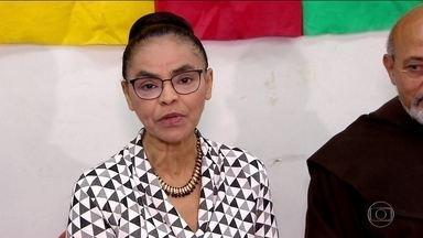 Marina Silva, da Rede, faz campanha na capital paulista - Jornal Nacional mostra como foram as atividades de campanha de candidatos à presidência nesta segunda (27).