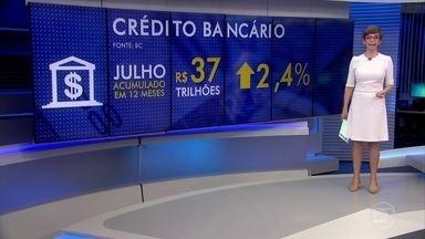 Volume anual de crédito bancário cresce em julho e recupera nível de 2013 - Banco Central espera que 2018 seja o primeiro ano de crescimento do crédito bancário desde 2015.
