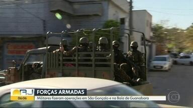 Soldados das Forças Armadas fizeram operação em São Gonçalo na última quarta-feira (29/08) - Mais de dois mil homens participaram da ação na comunidade. A operação foi realizada na Baía de Guanabara e no Complexo do Salgueiro.