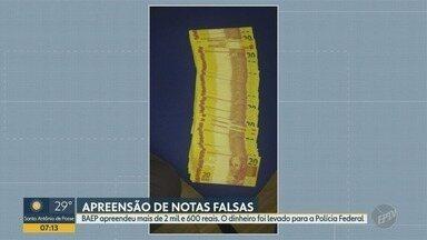 Baep apreende cerca de R$2,6 mil, em bar de Várzea Paulista - Dinheiro foi levado para a Polícia Federal.