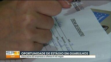 Feira do Estudante oferece 4 mil vagas de estágio - Estudante não precisa ter experiência para se candidatar. Feira vai até sexta-feira em Guarulhos