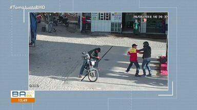 Câmeras de segurança registram assalto em posto de combustíveis em Itiúba, no norte - Mais informações você encontra no G1.com.br/bahia.