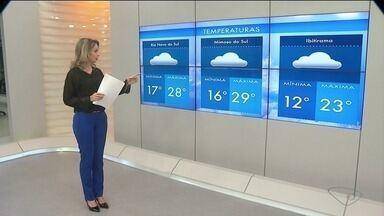 Confira a previsão do tempo no Sul do ES - Veja as variações de temperaturas na região sul do ES