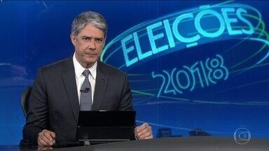 Cabo Daciolo, do Patriota, tem dia sem agenda de campanha - Jornal Nacional mostra como foram as atividades de campanha de candidatos à presidência nesta quinta (30).