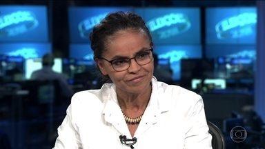 Marina Silva (Rede) é entrevistada no Jornal Nacional - A candidata da Rede à presidência foi entrevistada, ao vivo, na bancada do JN, por William Bonner e Renata Vasconcellos.