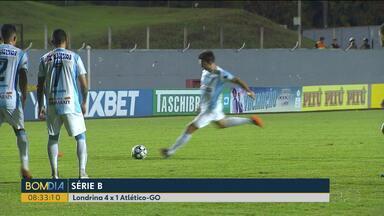 Londrina vence de goleada o Atlético Goianiense - Saiba também como fica a rodada do final de semana nas séries A,B e C