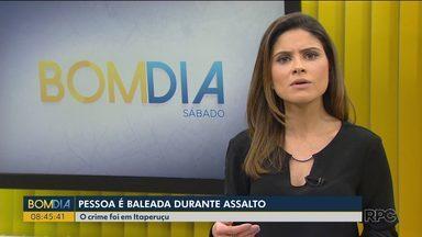 Uma pessoa é baleada durante um assalto em Itaperuçu - A vítima presenciou o assalto e acabou sendo baleada.