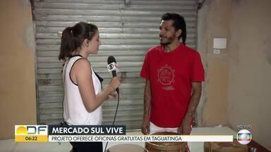 Projeto Mercado Sul Vive oferece oficinas para crianças e adultos - São 140 vagas. As aulas de capoeira, artesanato, música, teatro e circo são de graça e acontecem de segunda a sábado, no Mercado Sul, em Taguatinga.