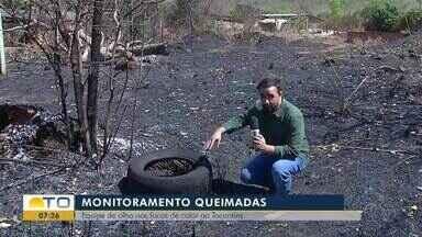 Incêndio destrói vegetação e deixa casas sem energia em Palmas - Incêndio destrói vegetação e deixa casas sem energia em Palmas