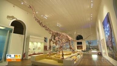 Museu Nacional havia feito 'vaquinha' para remontar ala dos dinossauros - Há poucas semanas, Fábio Júdice havia registrado a sala revitalizada.
