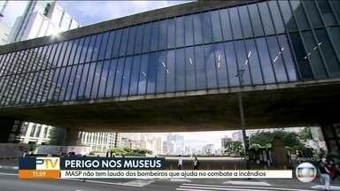 SP1 - Edição de segunda-feira, 3/9/18 - Incêndio no Museu Nacional no RJ acende alerta sobre museus em SP. Guarulhos começa a multar quem desperdiça água.AMAs que foram fechadas pela prefeitura começam a reabrir, mas com menos médicos.