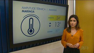 Veja como fica o tempo nos próximos dias em Maringá - Temperaturas devem subir ao longo da semana