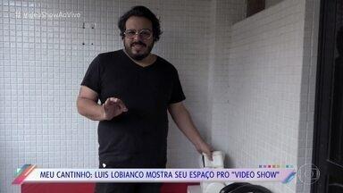 Luis Lobianco mostra seu cantinho especial em sua casa - Ator costuma trabalhar e também malhar na varanda do seu apartamento