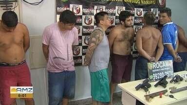 Polícia prende suspeitos de participação em tiroteio na Zona Oeste de Manaus - Armas de fogo foram encontradas com os suspeitos.