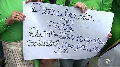Agentes de saúde e endemias realizam paralisação em Caruaru - Ao todo, foram 450 profissionais que participaram da ação.