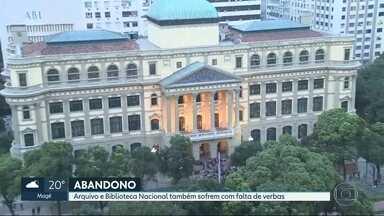 Arquivo Nacional e Biblioteca Nacional também sofrem com falta de investimentos - Instituições apresentam problemas de manutenção por falta de repasses do Governo Federal