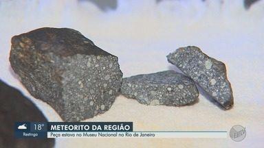 Atingido por incêndio, Museu Nacional guardava meteorito achado em Ribeirão Preto - Ele foi encontrado na década de 1960, em Buritizal, SP.
