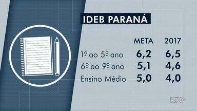 Estudantes de Guarapuava do sexto ano em diante não atingem meta do Ideb - Já os alunos do 1º ao 5º ano superaram a projeção.