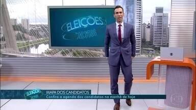 Veja os compromissos de campanha de candidatos ao governo de SP nesta quarta-feira (5) - Confira os compromissos de campanha de Luiz Marinho (PT), João Doria (PSDB) e Paulo Skaf (MDB).