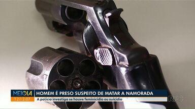 Está preso homem suspeito de matar namorada em Floresta - Leonardo Ferreira, de 25 anos, está detido em Maringá