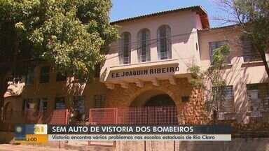 Vistoria encontra problemas em escolas estaduais em Rio Claro, SP - Nenhuma das 20 escolas têm laudo do Corpo de Bombeiros.