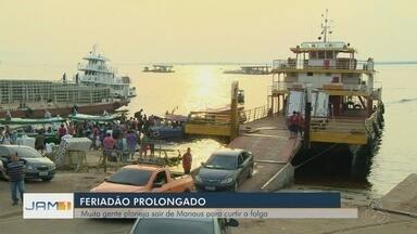 Feriado da Pátria movimenta saídas de Manaus - Fiscalização foi reforçada