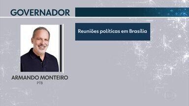 Armando Monteiro (PTB), candidato ao governo de PE, participou de reuniões em Brasília - Nesta quarta-feira (5), candidato não cumpriu agenda de campanha no estado.