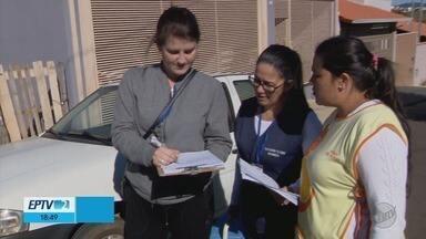 Agentes de saúde buscam crianças para vacinar contra polio e sarampo em Carmo do Rio Claro - Agentes de saúde buscam crianças para vacinar contra polio e sarampo em Carmo do Rio Claro