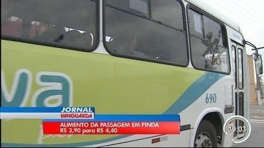 Aumento da passagem do transporte público em Pinda é adiada - O valor foi de R$3.90 para R$4.20