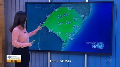 Tempo: temperaturas chegam aos 26ºC nesta quinta-feira (6) no RS - O predomínio também é de sol em todas as regiões.