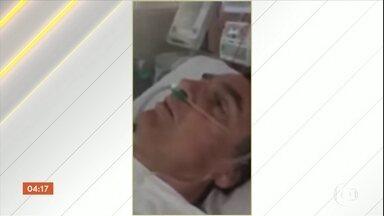 Jair Bolsonaro agradece o trabalho da equipe médica que o atendeu em MG - O senador Magno Malta, do PR, gravou um vídeo dentro da UTI onde está internado Jair Bolsonaro (PSL). Na gravação, o candidato agradece ao trabalho das equipes médicas que o socorreram.