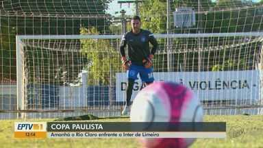 Rio Claro se prepara para enfrentar a Inter de Limeira pela Copa Paulista - Jogo acontece amanhã (8), às 17h, em Limeira (SP).