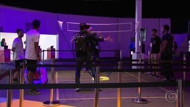 Vôlei em realidade virtual é uma das atrações da GameXP - Vôlei em realidade virtual é uma das atrações da GameXP