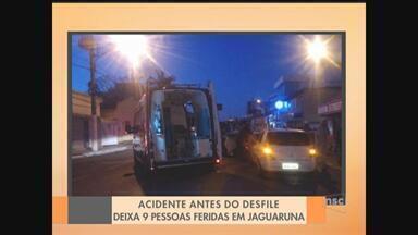Nove pessoas ficam feridas em acidente antes do desfile de 7 de setembro em Jaguaruna - Nove pessoas ficam feridas em acidente antes do desfile de 7 de setembro em Jaguaruna