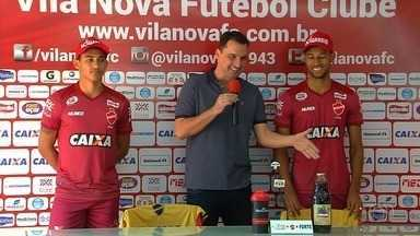 Em busca de gols, Vila Nova apresenta mais dois atacantes para a Série B - Rafael Barros e Rafael Silva já estão à disposição do técnico Hemerson Maria