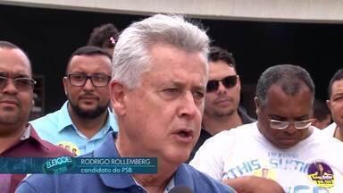 Rodrigo Rollemberg (PSB) faz campanha em Ceilândia - O candidato disse que, se reeleito, vai criar infraestrutura para os moradores do Pôr do Sol e do Sol Nascente.