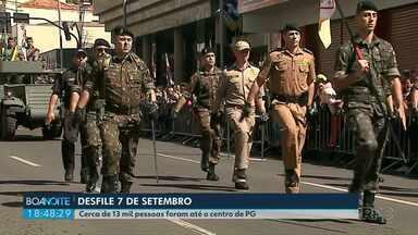 13 mil pessoas acompanham desfile da independência em Ponta Grossa - 2 mil integrantes de instituições desfilaram pelas avenidas do centro da cidade.