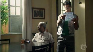Lalá percebe que Eliseu está com problemas financeiros - Ele pede dinheiro para Barão e diz que o velho está passando por dificuldades
