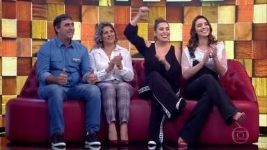 """Começa a disputa entre as famílias Azevedo e Belutti - Naiara Azevedo e Bruno Belutti participam do """"Tamanho família"""""""