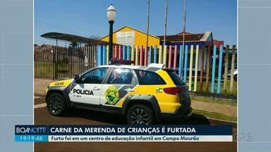 Carne de merenda escolar é furtada de creche em Campo Mourão - De acordo com a polícia, até agora ninguém foi preso.